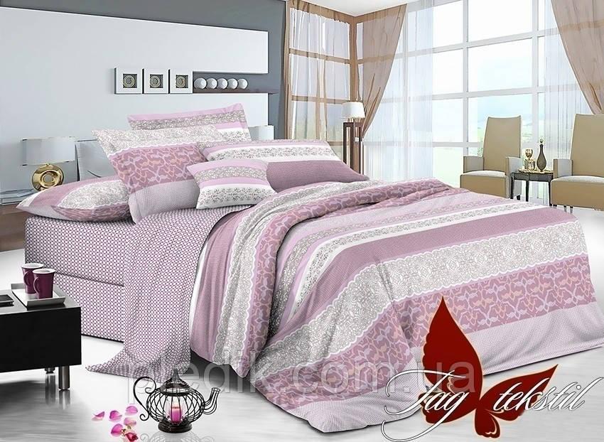Комплект постельного белья сатин полуторный TAG S-099