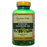 Масло примулы, Evening Primrose Oil 1300 mg with GLA, Puritan's Pride, 120 капсул