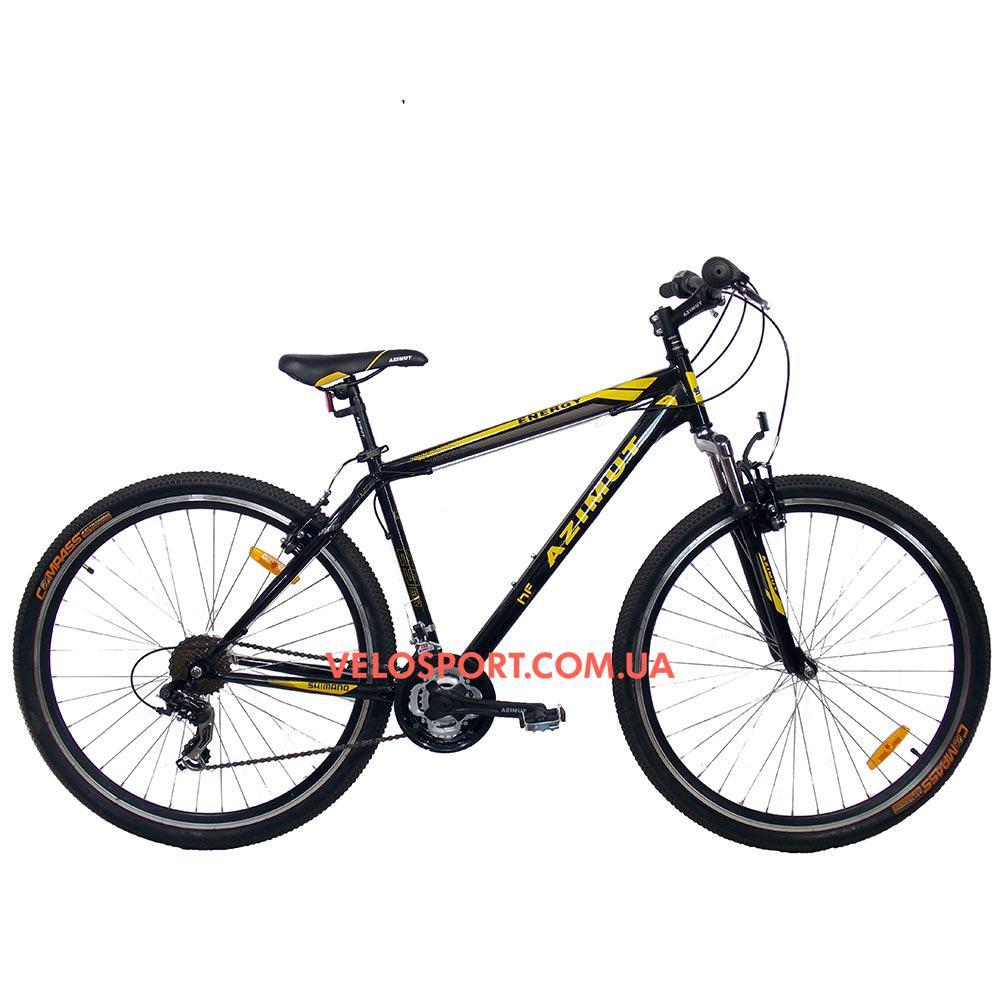 """Горный велосипед Azimut Energy 29 GV 19"""" черно-желтый"""