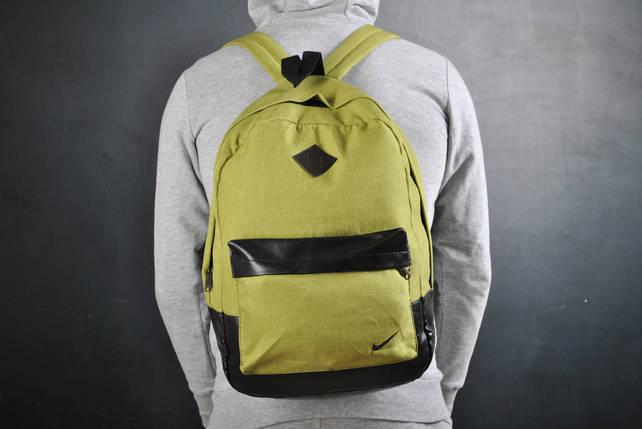 Рюкзак В стиле Nike найк оливка черное дно / найк, фото 2