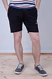 Чоловічі трикотажні шорти Reebok, тканина лакоста, темно-синього кольору, фото 2