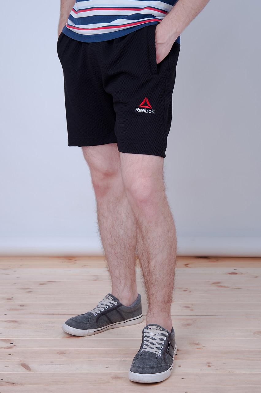 Чоловічі трикотажні шорти Reebok, тканина лакоста, темно-синього кольору