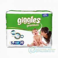 Подгузники Giggles 5 Premium Jumbo Packs Junior От 11 До 25 Кг 36 Шт