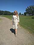 Платье сафари летнее хлопковое молочный  беж 48,50,52,54 Пл 099-6 палевая роза, фото 3