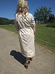 Платье сафари летнее хлопковое молочный  беж 48,50,52,54 Пл 099-6 палевая роза, фото 2