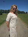Платье сафари летнее хлопковое молочный  беж 48,50,52,54 Пл 099-6 палевая роза, фото 5
