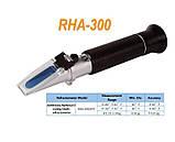 Карманный рефрактометр RHA 300 ATC. Антифриз, с 3-мя шкалами (Eyhylene,Propelene glycol, Battarey fluide), фото 3