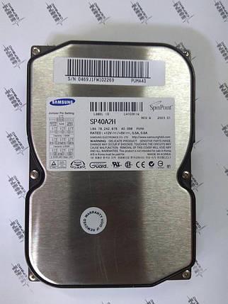 Жесткий диск HDD 40Gb IDE Samsung Б/У S.M.A.R.T - GOOD, фото 2