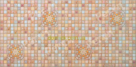 ПВХ панель стеновая Регул Медальон коричневый - 33 К