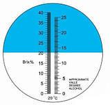 Рефрактометр RHW - 25 Brix /ATC(REF503/51) с двумя шкалами (Brix 0-40%) и (спирт 0-25%) виноделам и пивоварам, фото 2