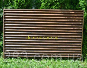 Металлический забор Жалюзи ламель Твинго/ Twingo printech2-х стор 35 мк