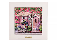 """Панно керамическое в деревянной раме """"home"""" 28х28 см, в ассортименте, Lefard, 072-098"""