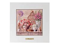"""Панно керамическое в деревянной раме """"цветоный рай"""" 22,5х22,5 см, Lefard, 072-119"""