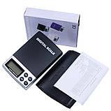Весы цифровые DS-500 (0.1g /500g) с откидывающейся крышкой, фото 3