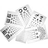 КП Таблица определения остроты зрения (комплект из 6шт.).