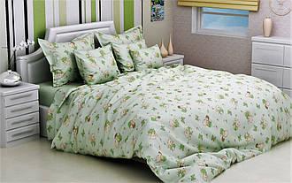 Детские комплекты постельного белья 110*140 из бязи Голд в кроватку Мишка Фреди (зеленый)