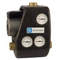 """Смесительный узел LK ARMATUR 810 G ThermoMat мин 60°C 1 1/4"""" с обратным клапаном"""