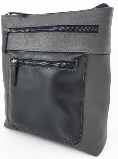 Мужская сумка VATTO Mk76 F13Kaz1, из натуральной кожи, серый