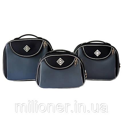 Сумка кейс саквояж 3в1 Bonro Style черно-серый, фото 2