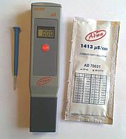 Влагозащищённый кондуктометр ( EC-метр ) Adwa AD203 (0 - 1999 µs/cm) с АТС (Венгрия), фото 1