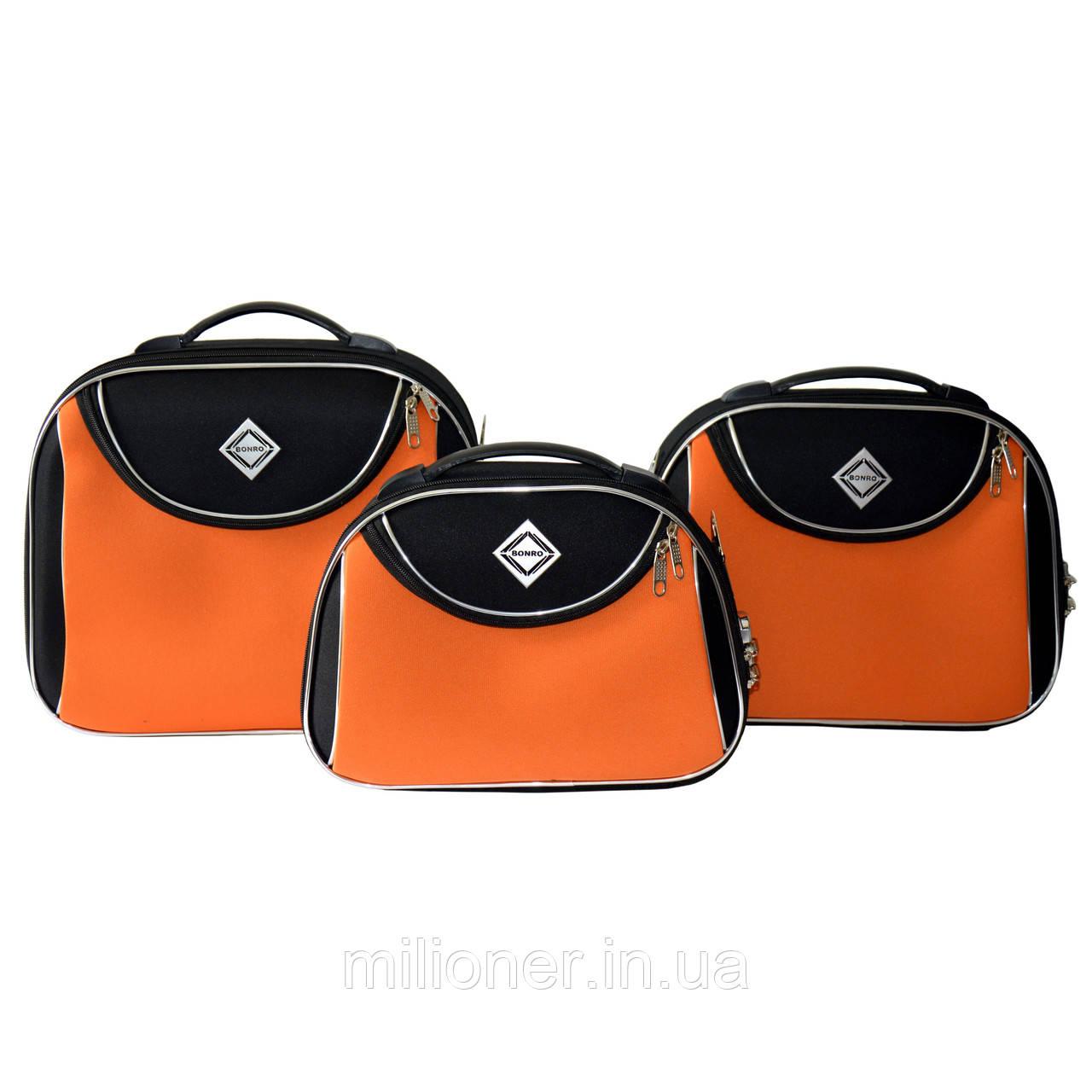 Сумка кейс саквояж 3в1 Bonro Style черно-оранжевый