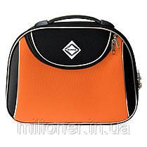 Сумка кейс саквояж 3в1 Bonro Style черно-оранжевый, фото 2