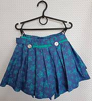 Шорты-юбка летние для девочки р.116-134 звезда мята оптом