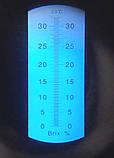Портативный рефрактометр RHB  -32 ATC Brix(REF103/113,HT113ATC) (Сахароза от 0 до 32 %), фото 3