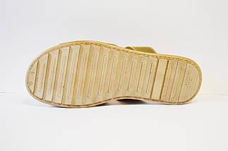 Шлепанцы оливковые кожаные Davis 421-20, фото 3