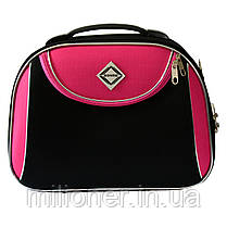 Сумка кейс саквояж 3в1 Bonro Style черно-розовый, фото 2