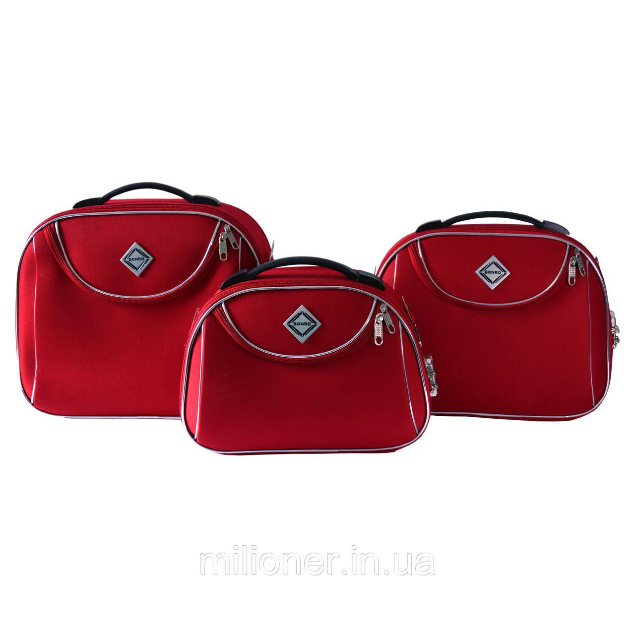 Сумка кейс саквояж 3в1 Bonro Style красный