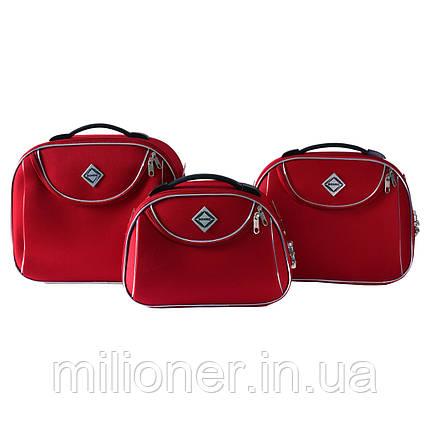 Сумка кейс саквояж 3в1 Bonro Style красный, фото 2