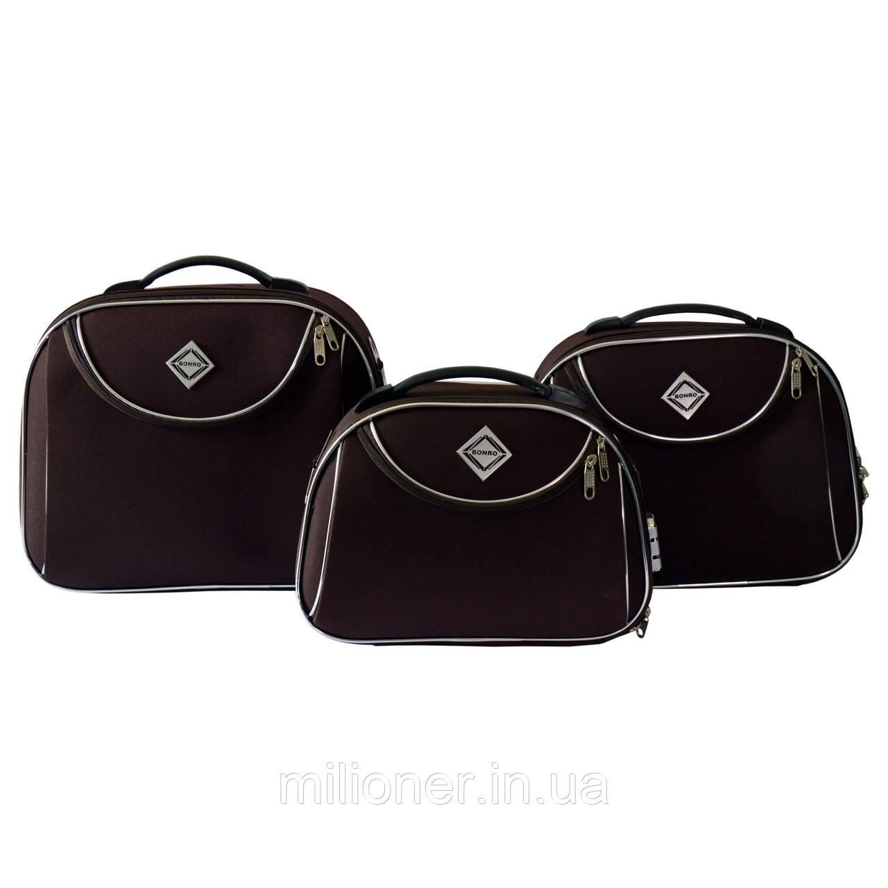 Сумка кейс саквояж 3в1 Bonro Style коричневый