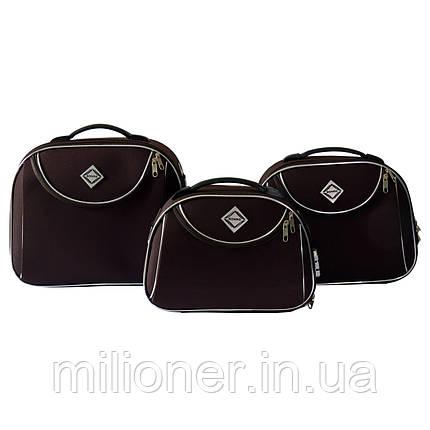 Сумка кейс саквояж 3в1 Bonro Style коричневый, фото 2