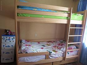 добрый день! И я с отзывом. Спасибо большое вам за кровать, дети спят уже 2 недели, очень нравится, очень довольны! Кровать очень красивая, прочная, гладннькая! Очень приятно к ней прикасаться))  Побольше вам заказов и благодарных клиентов!!!