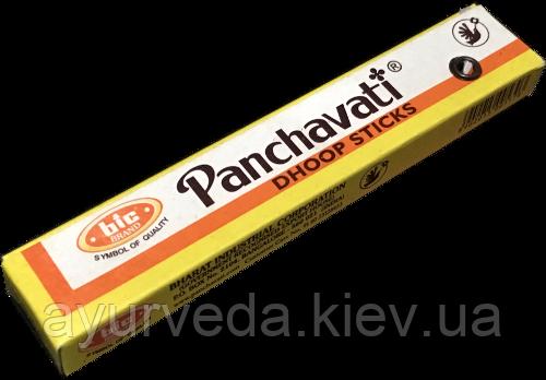 Панчавати, безосновные палочки с ярким цветочным ароматом, Panchavati dhoop sticks, большие
