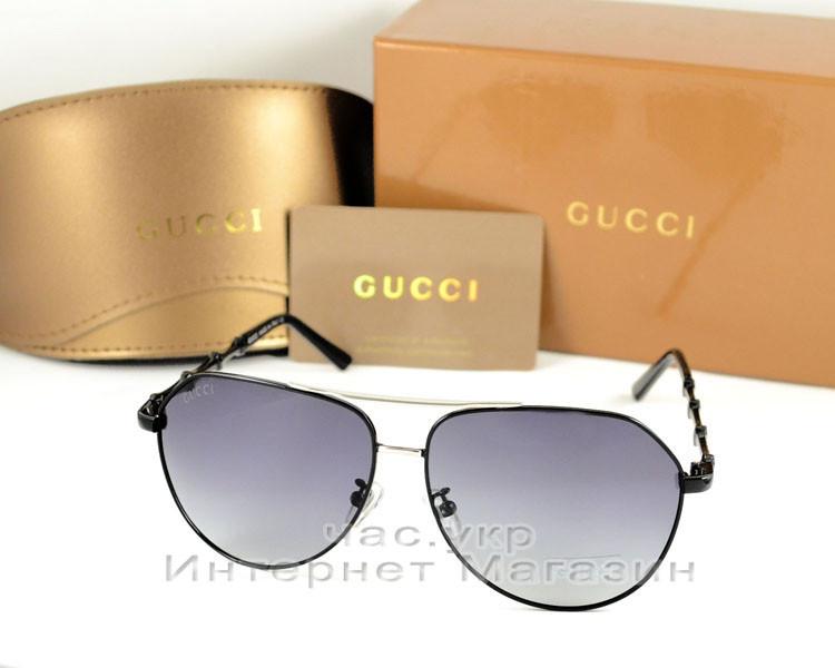 e58fc78b2663 Солнцезащитные очки Gucci Polarized Aviator оправа металлическая стильная  новинка лета ...