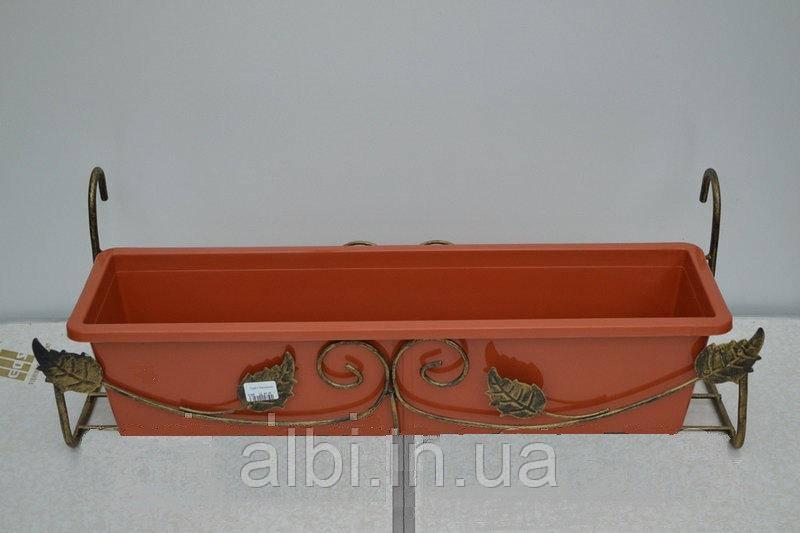 Кованая подставка для балконного ящика