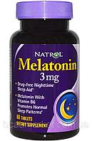 Мелатонин Natrol Melatonin, 3 мг, 60 tab