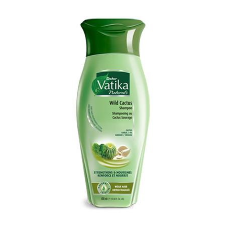 """Шампунь для волосся Dabur Vatika Wild Cactus """"Зміцнення і живлення"""", 200мл"""