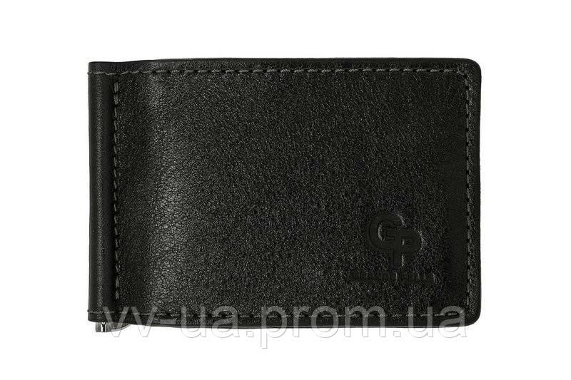 Зажим-портмоне Grande Pelle, черный 109610, кожа