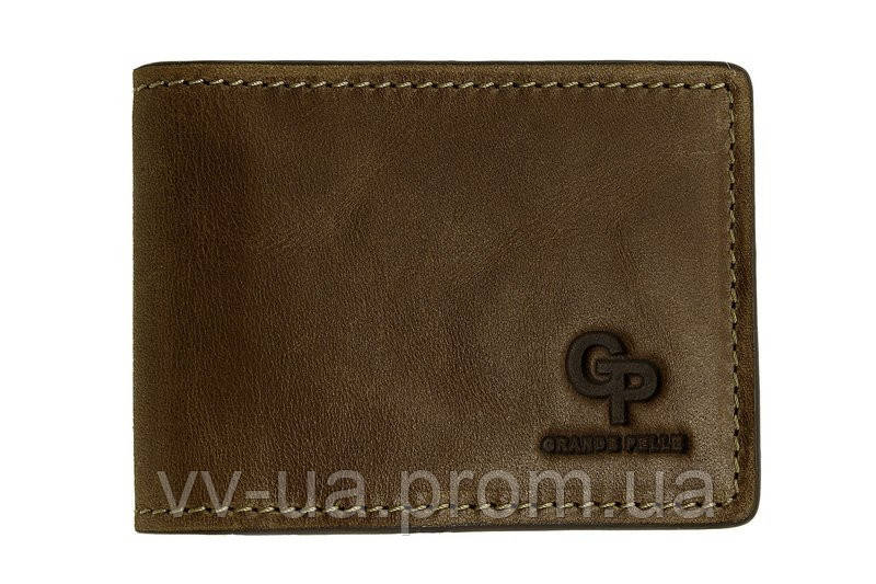 Зажим-портмоне Grande Pelle, шоколад, кожа (107620)
