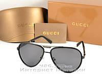 Солнцезащитные очки Gucci Polarized Aviator Антибликовое покрытие оправа  металлическая Гуччи люкс реплика 1bff555f71cc9