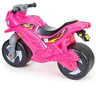 Детская мото каталка для девочек Орион 501, розовая