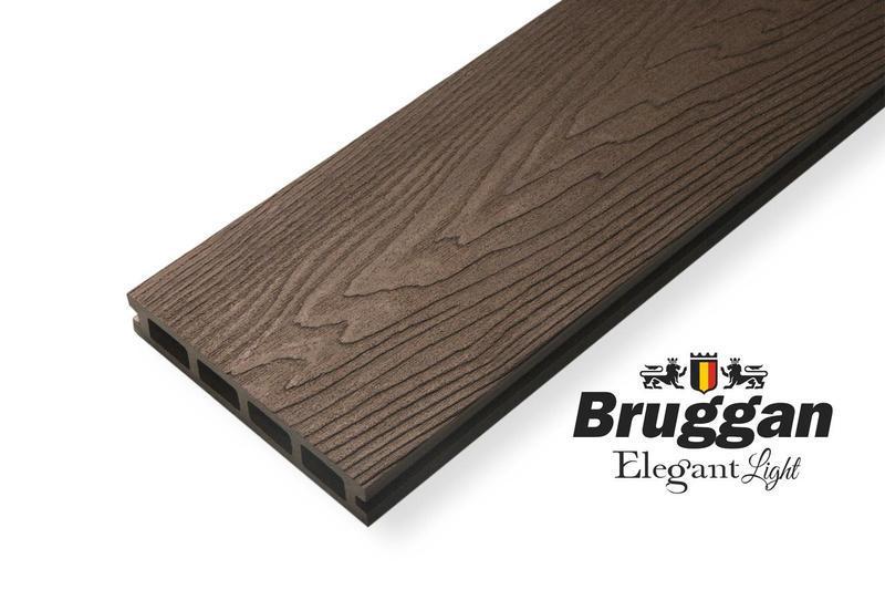 "Террасная доска Bruggan Elegant Lite ""Wine brown"""