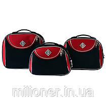 Сумка кейс саквояж Bonro Style (небольшой) черно-красный, фото 2
