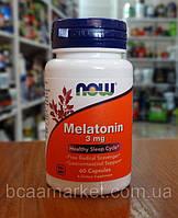 Now Foods Melatonin 3 mg, caps 60