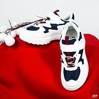 Детские кроссовки бело/синие