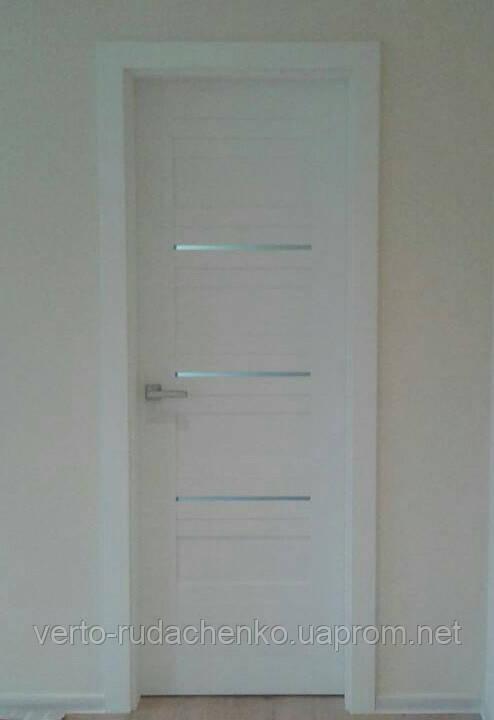 Двери Verto Лада 5.0 цвет Кора белая «Verto LINE-3D»