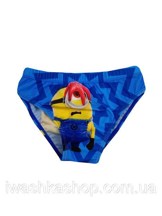 Голубые плавки для мальчика Миньоны, Despicable me, Minion made, Disney р.98